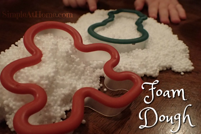 This homemade foam dough makes a great sensory activity for kids