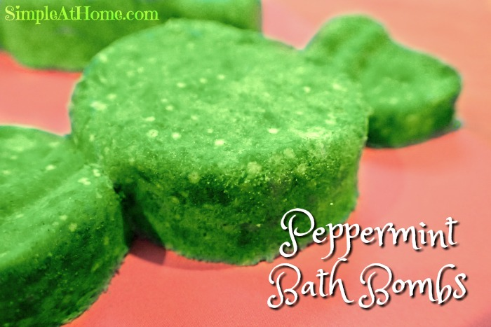 Peppermint bath bombs make a great homemade gift