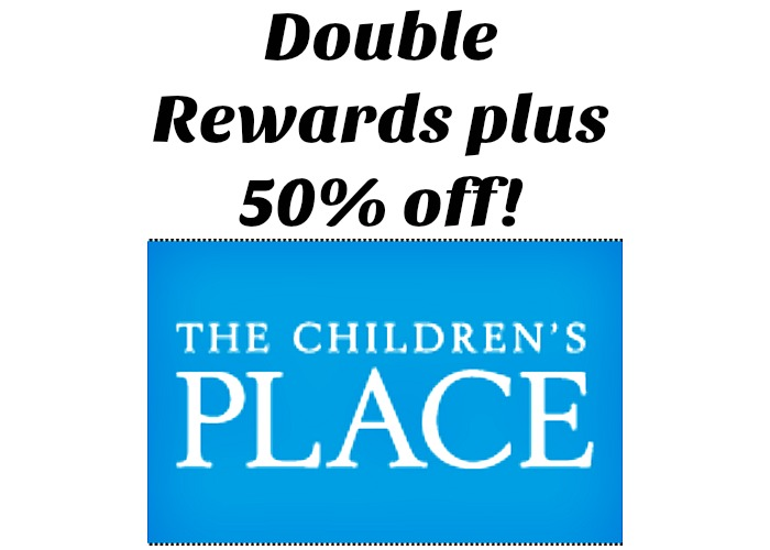 Children's place double rewards and 50% winter basics!