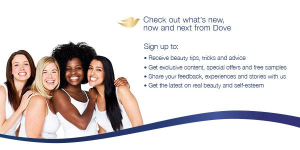 Dove sample and coupons.