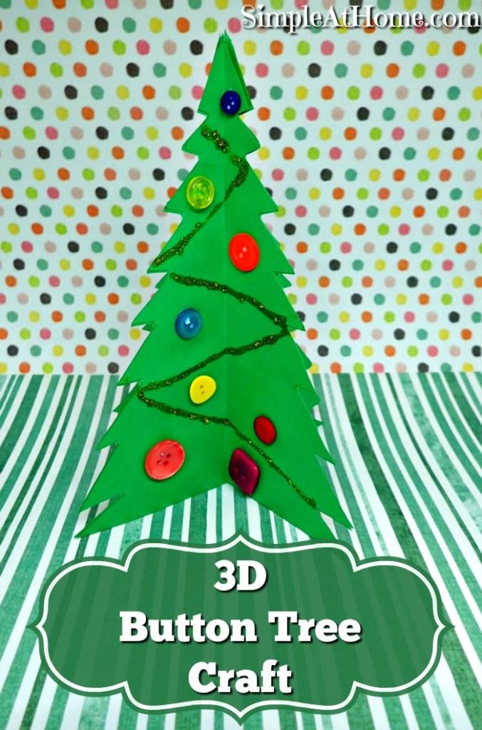 3D button tree craft