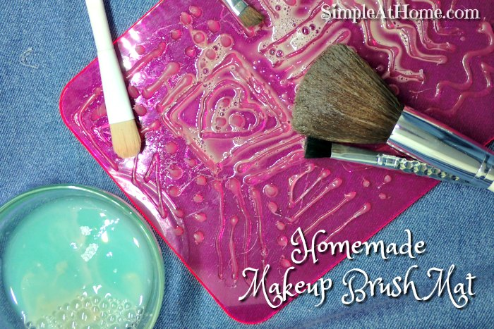 homemade makeup brush mat