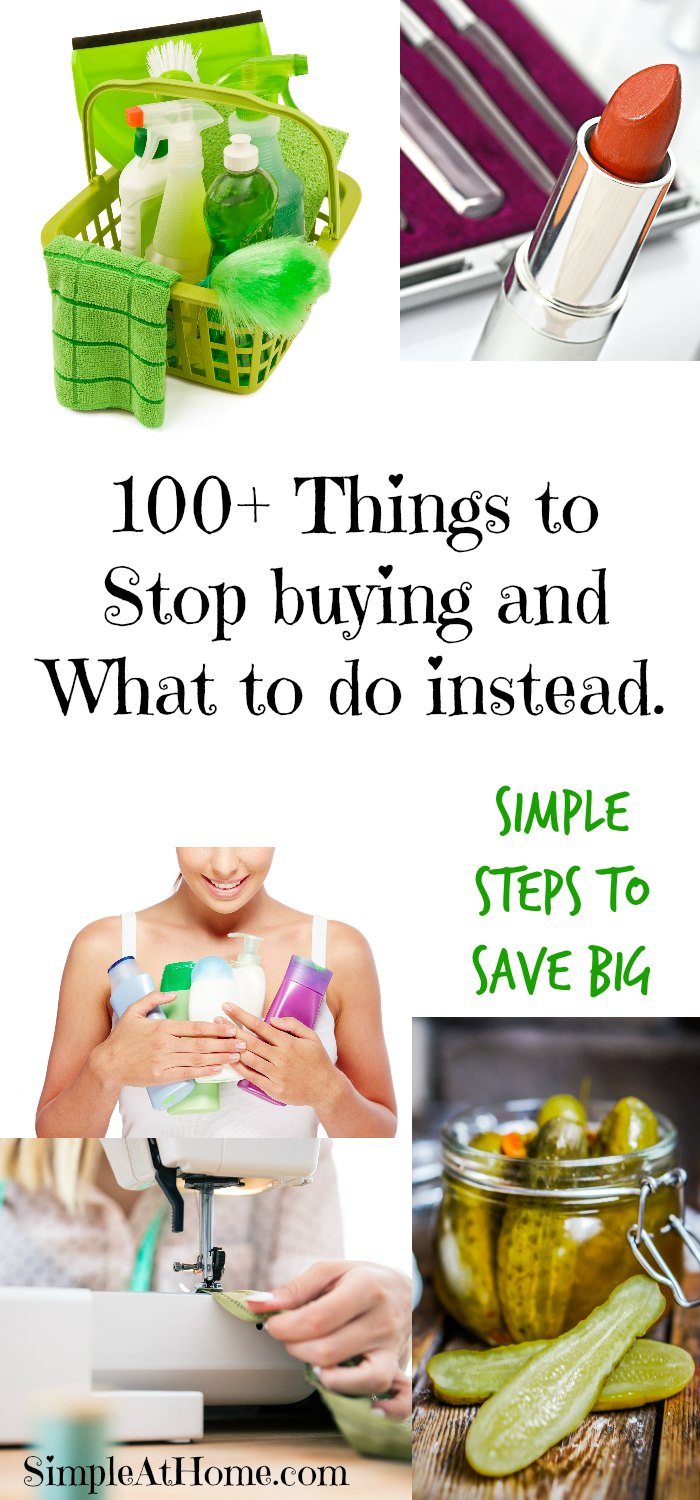 Huge list of things you can do to save money!