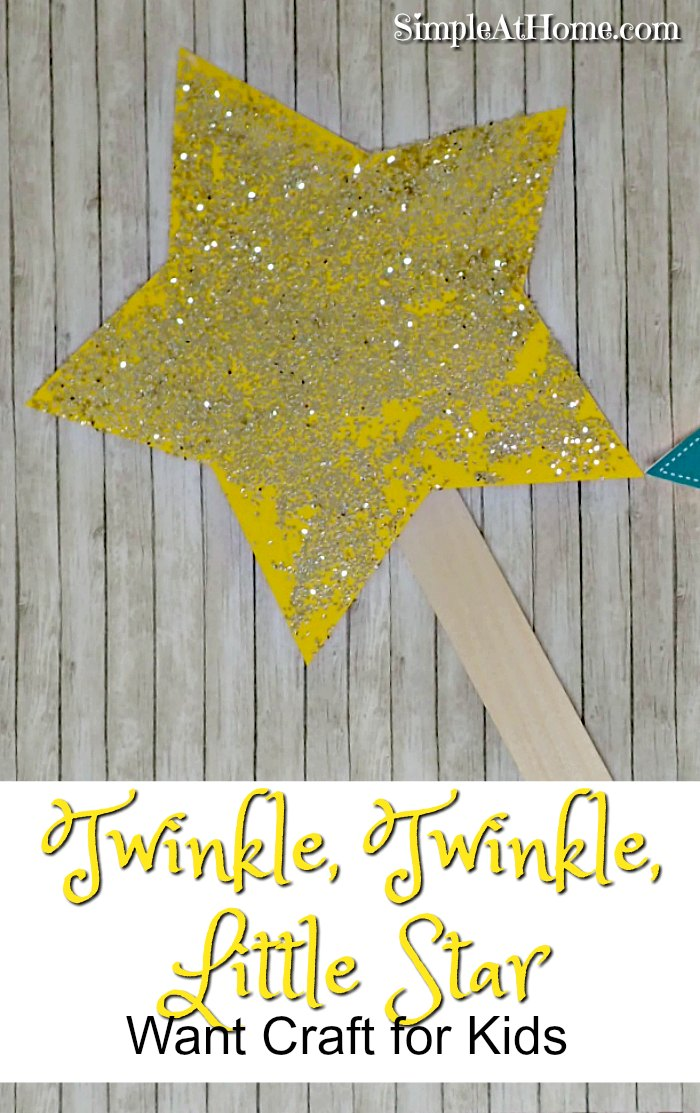 Twinkle, Twinkle, Little Star Wand Craft