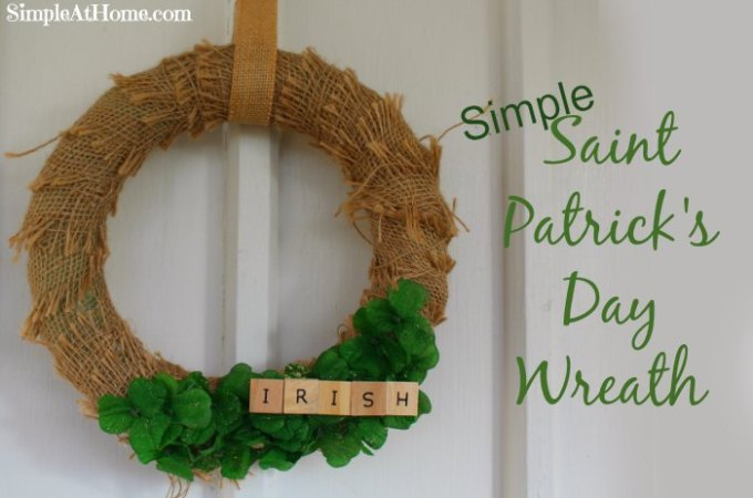saint patricks day wreath diy, craft, home decore, st patties day, st patricks day