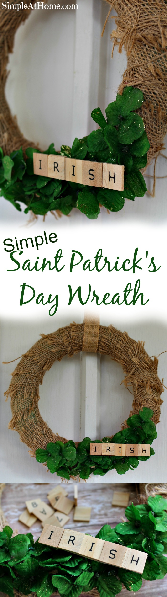 This simple Saint Patrick's Day wreath is cute and easy to make