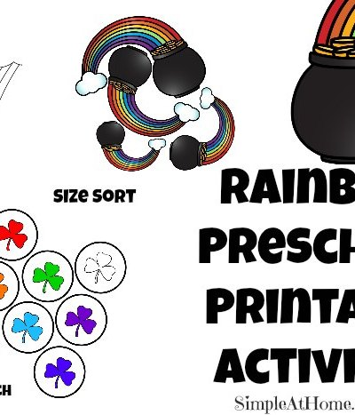 Rainbow Preschool Printable Activites