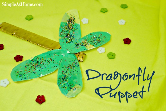 Dragonfly Puppet Craft
