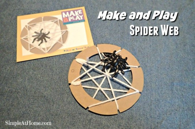 Make and play spider web | homeschool | preschool | kids crafts