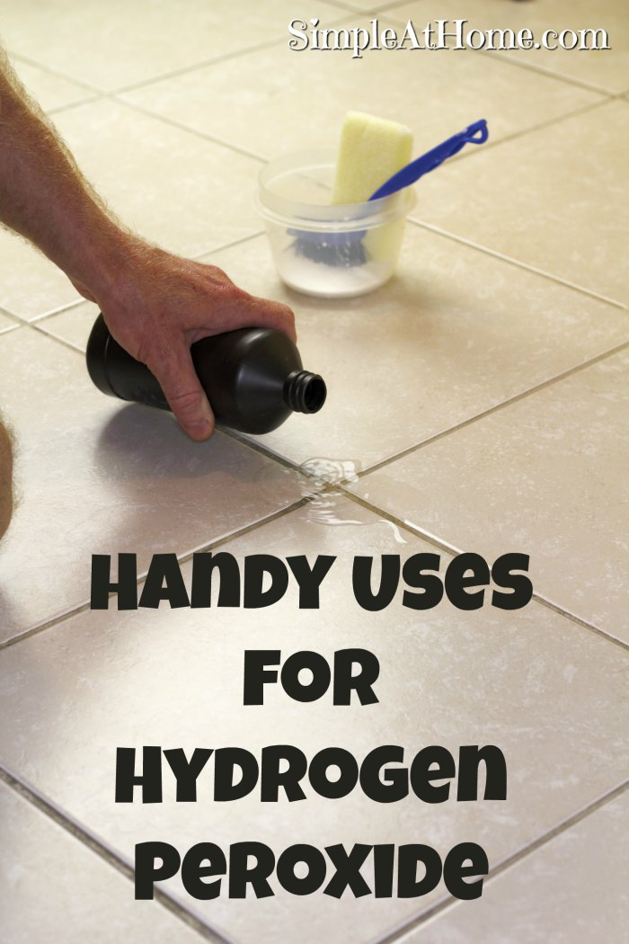 Handy Uses for Hydrogen Peroxide every mom needs to know