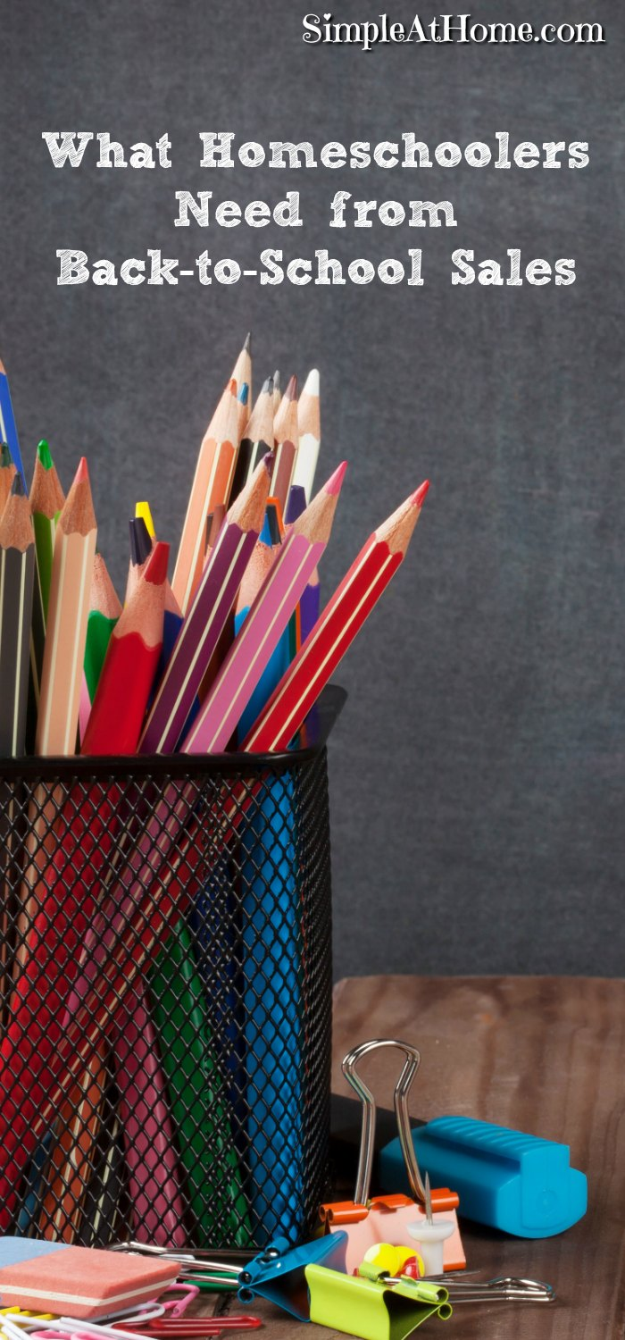 What Homeschoolers Need from Back-to-School Sales