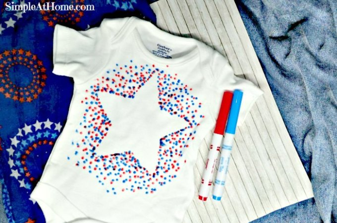 Patriotic Baby T-shirt Craft