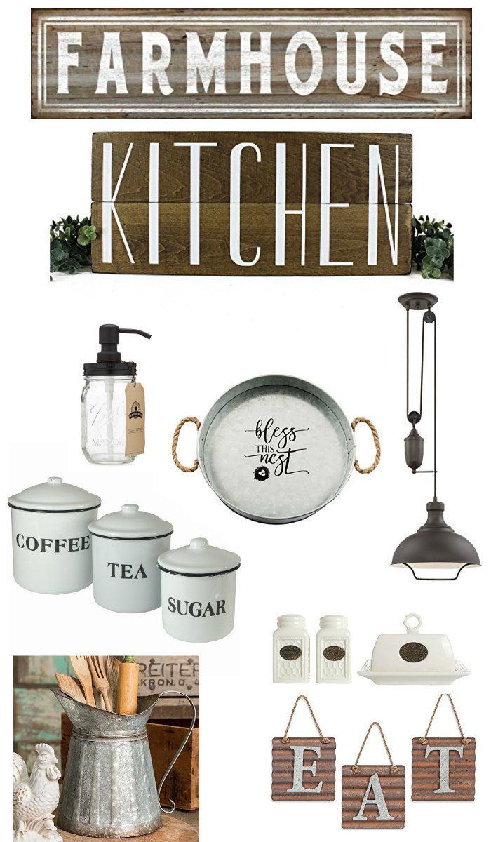 I am so in loive with thes farmhouse kitchen goodies
