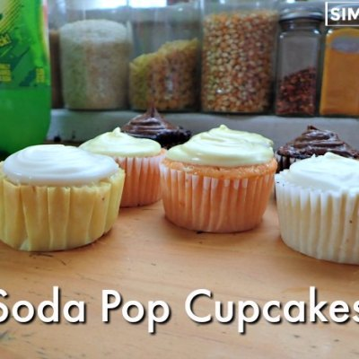 Soda Pop Cupcakes made with my husbanmds favorite Faygo flavors