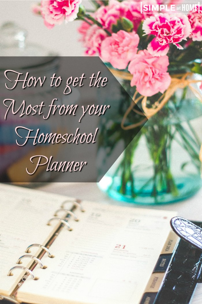 How to get the Most from your Homeschool Planner