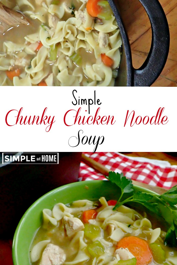 simple chunky chicken noodle soup