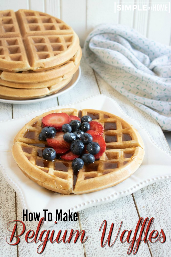 Ever wondered how to make your own Belgium waffles? It's easier than you think.
