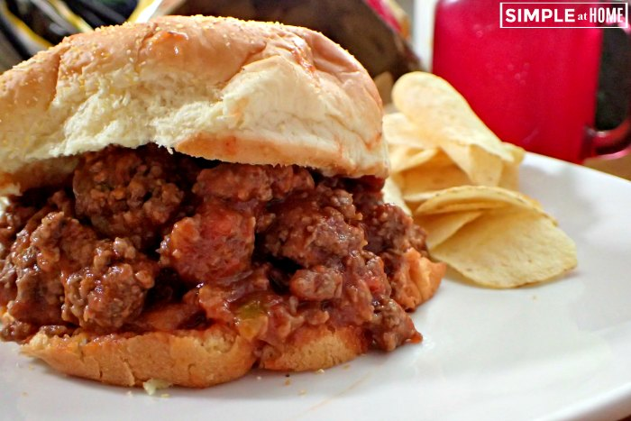 How to make homemade sloppy joes