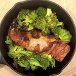 Bacon Wrapped Pork Tenderloin with Broccoli