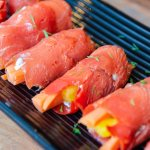 Smoked Salmon Rolls with Vegetables and Dill Cream Cheese