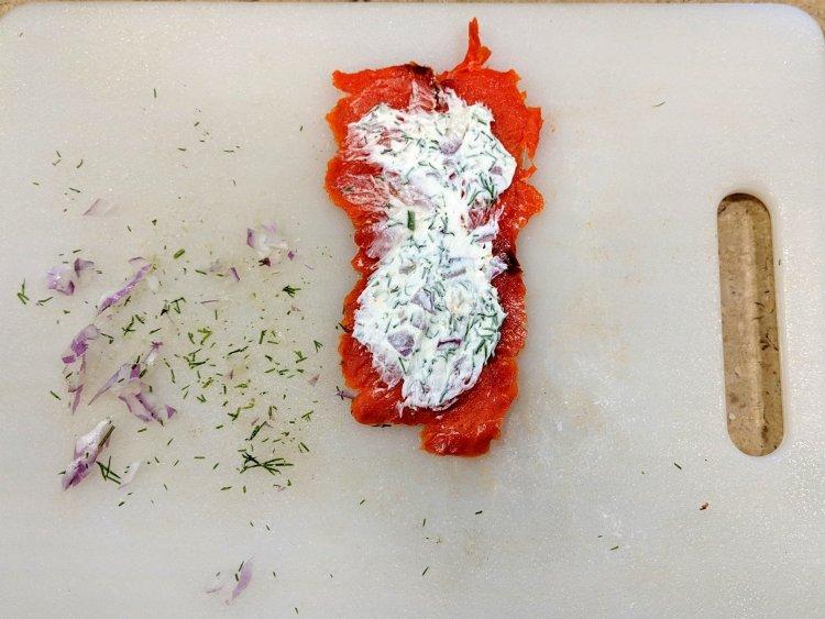 Smoked Salmon Rolls Step 2