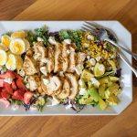 Kale Salad with Air Fryer Herb Chicken Breast