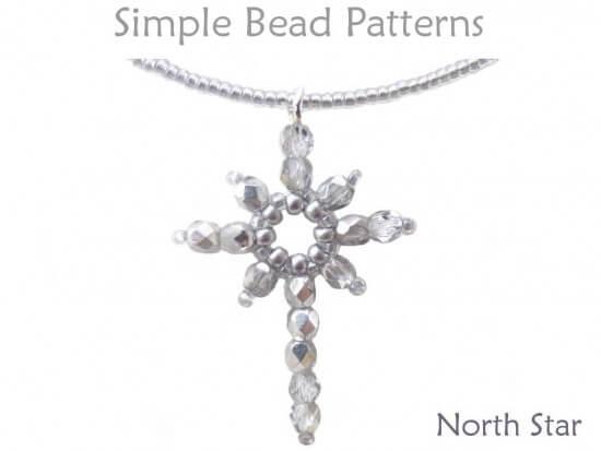 DIY Christmas Jewelry Beaded Star Necklace Earrings