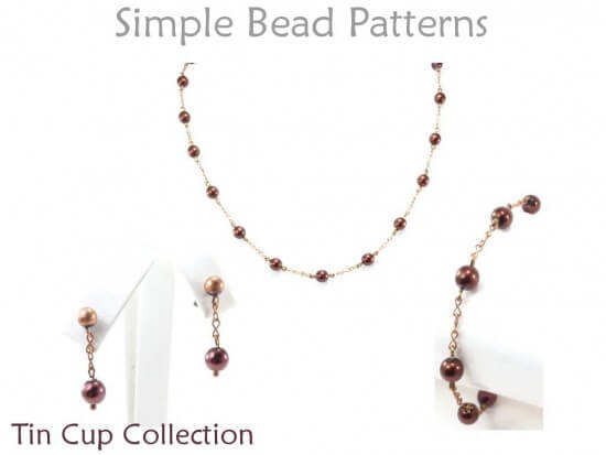 Wire Wrapped Bracelet, Necklace & Earrings Beading Pattern