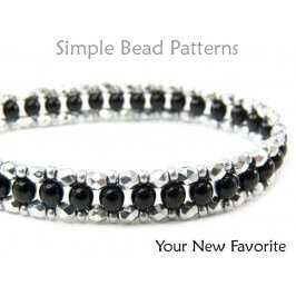 Right Angle Weave Bracelet Tutorial RAW Beading Pattern