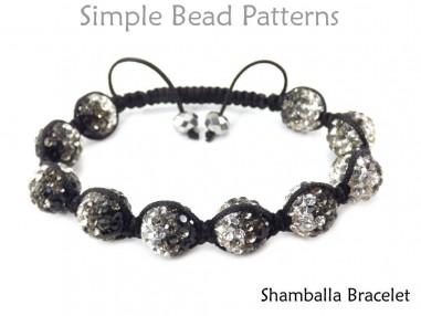 DIY Shamballa Bracelet Tutorial Macrame Slide Knot Beading