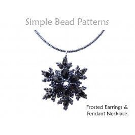 DIY Beaded Snowflake Earrings and Snowflake Necklace