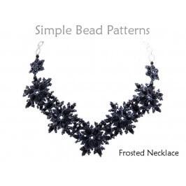 DIY Beaded Snowflake Necklace Jewelry Making Beading Pattern