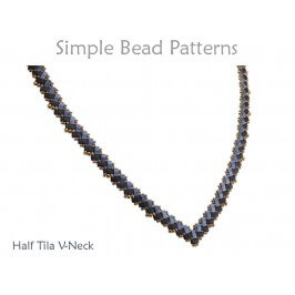 Two Hole Bead Pattern Half Tila Necklace Jewelry Making