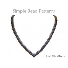 Two Hole Bead Pattern Half Tila Necklace Jewelry Making