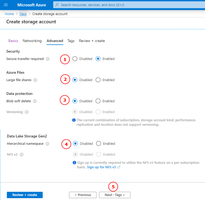Create Azure Storage