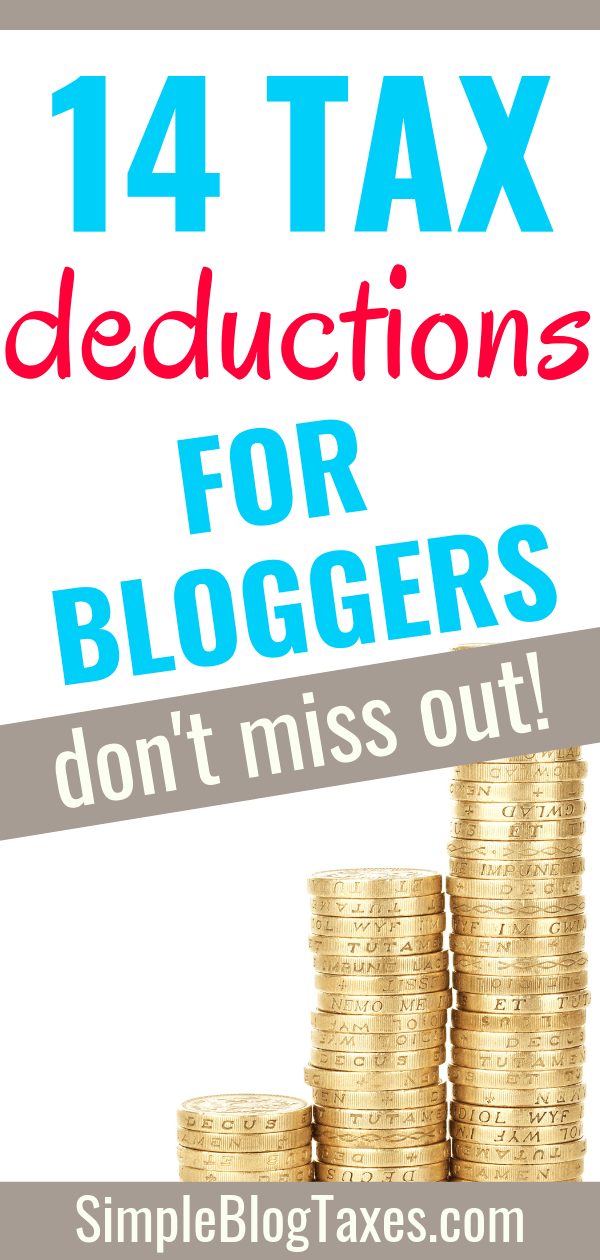 Don't waste your money! These are the BIG tax deductions available for bloggers and small businesses. Keep more of your hard earned money by claiming these blogging tax deductions. #BloggingTips #TaxDeductions #SmallBusinessTips SimpleBlogTaxes.com