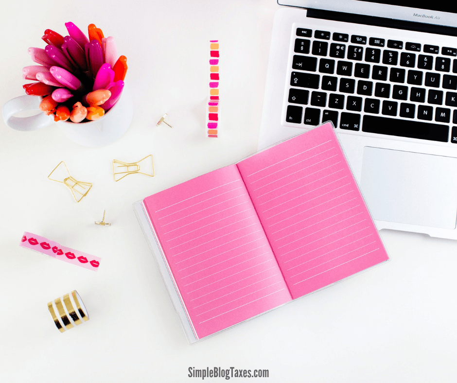 How to file taxes as a blogger. The step-by-step guide to putting together your blog tax information for filing. #BlogTaxes #BlogFinances #HowToFileTaxes #BloggingTips SimpleBlogTaxes.com