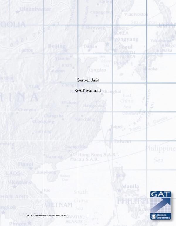 GAT Manual Gerber Asia Pacific