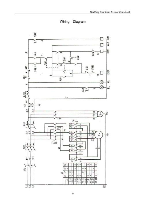 small resolution of drilling machine instruction book wiring diagram 21