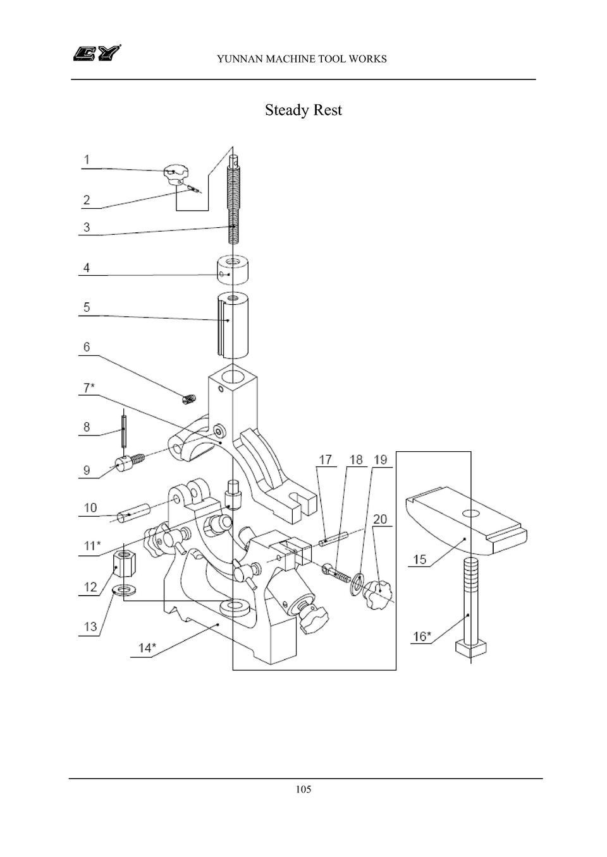 Manual: Yunnan Lathe Parts List : simplebooklet.com