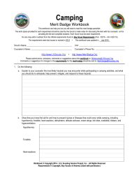 Boy Scouts Merit Badge Worksheets. Worksheets