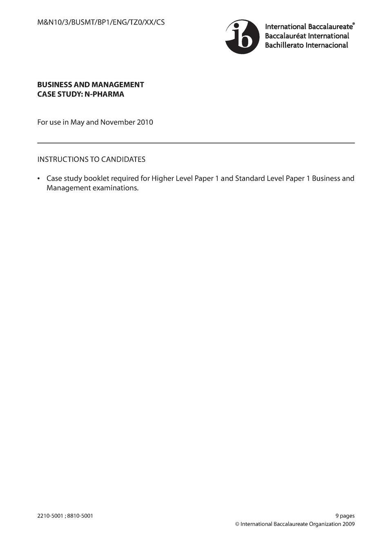 2010 Exams IB Business and Manag : simplebooklet.com