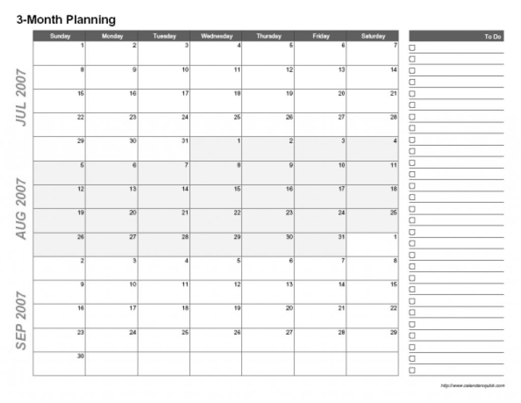 3 Month Blank Calendar Template | Printable Calendar ...
