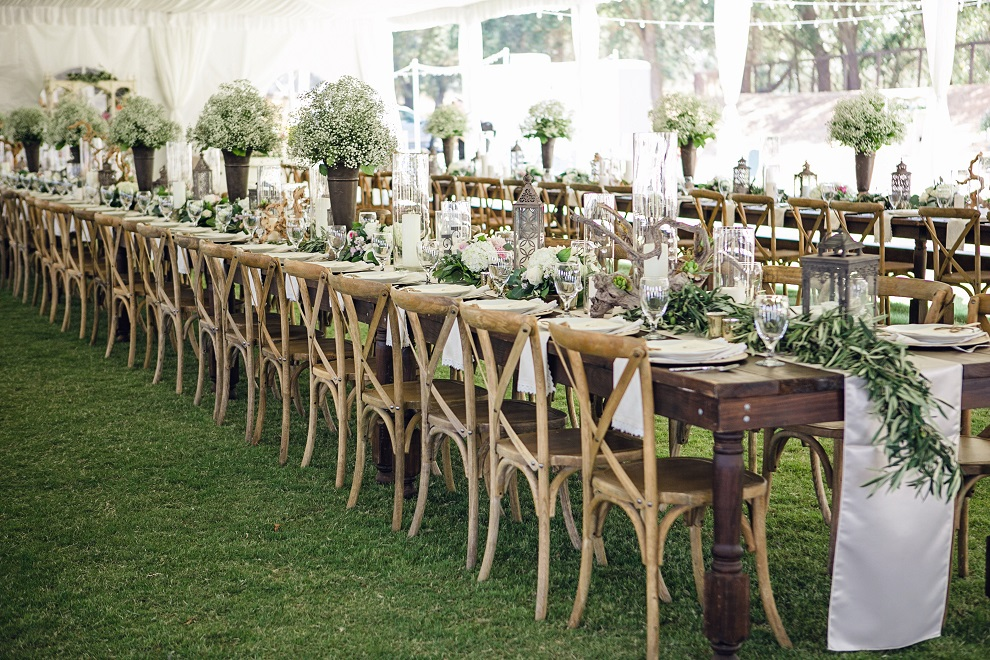 rustic farm table and chairs picnic time portable folding sports chair jaime + carmen - simple country weddings