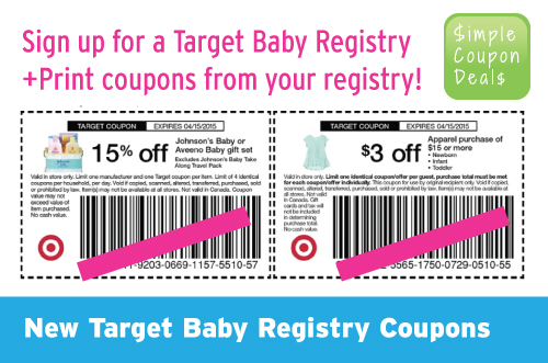 Expired: Get coupons free samples & more with Target Baby ...