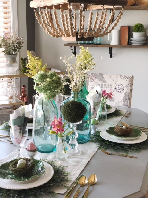 Early Spring And Easter Tablescape Simple Cozy Charm