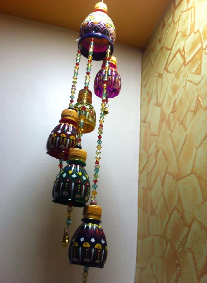 Wind Chimes Made Out Of Waste Plastic Bottles Simple