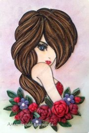 quilling girl - simple craft ideas