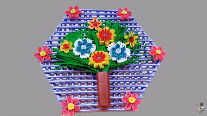 Paper Quilling Wall Hanging Design For Room Decoration