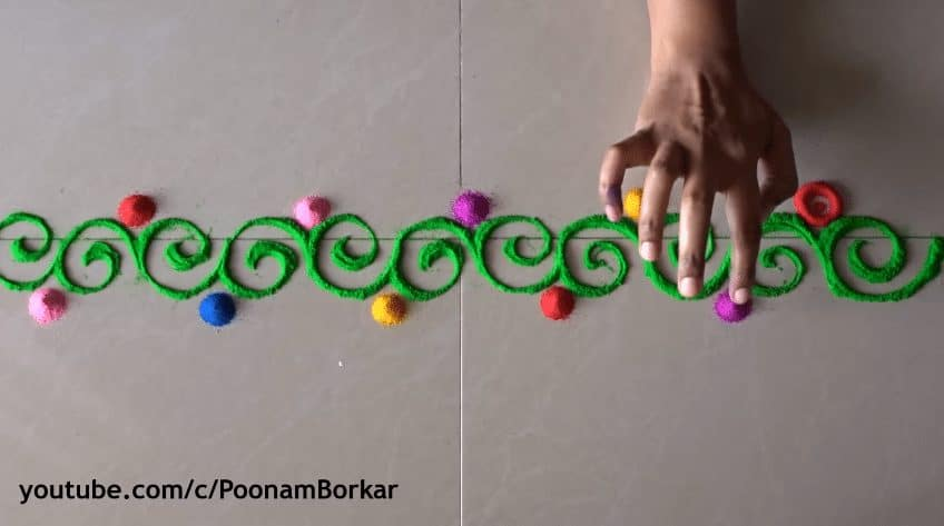 Diwali special easy border rangoli designs  Simple Craft